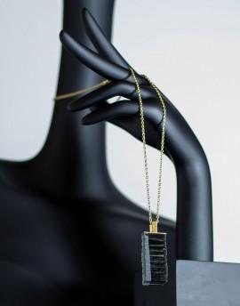 Colgante de Vidrio  y Latón Colección Black